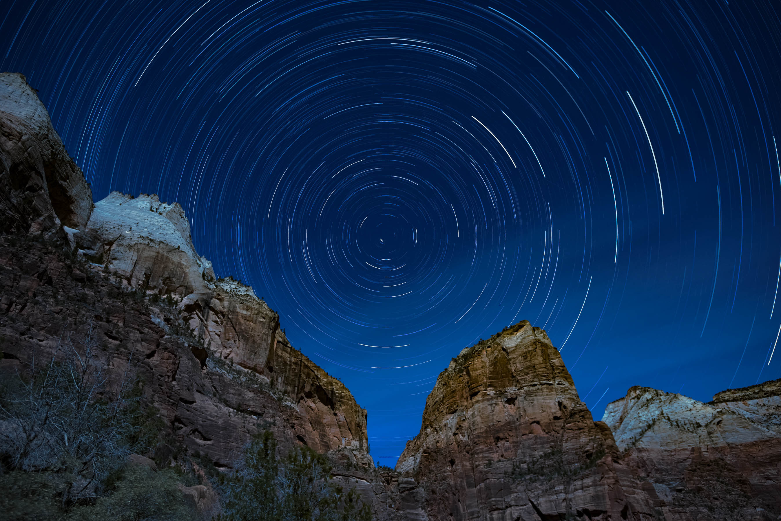Star Trails at Angels Landing