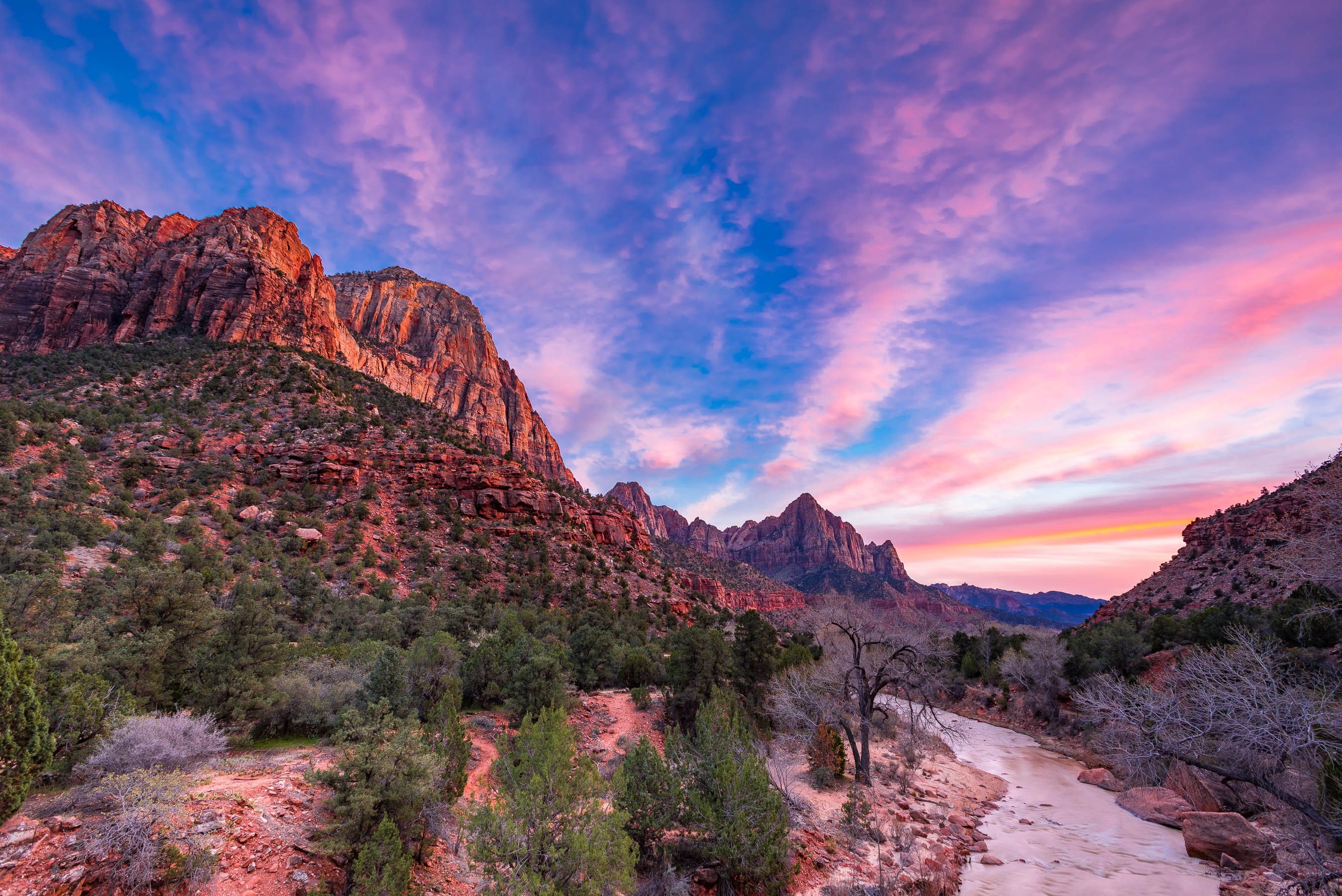 Sunset in Zion National Park
