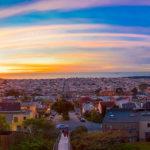 Sunset in San Francisco Panorama