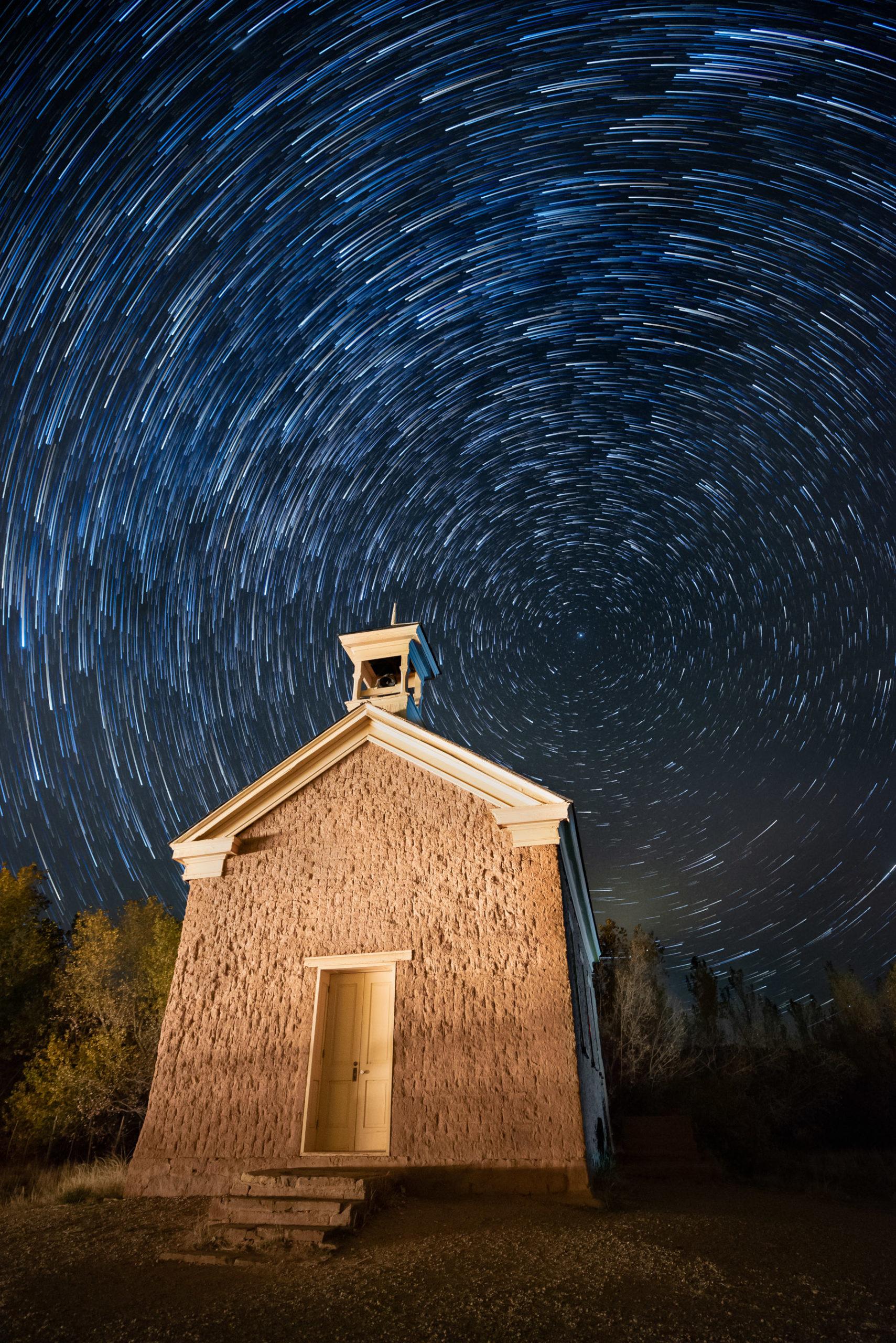 Star Trail at Grafton Church